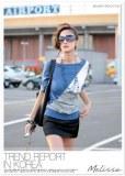 Simple irrégulière Shirt avec manches Color
