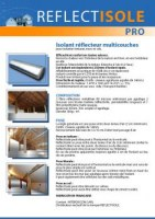 Isolant mince reflecteur multicouches Reflectisole Pro