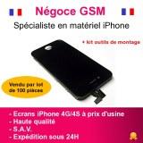 VITRE TACTILE IPHONE 4G/4S (NOIRE ou BLANCHE) + ECRAN LCD SUR CHÂSSIS + OUTILS