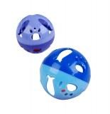 Balle avec clochette pour chat - rose - accessoires pour animaux