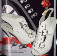 Sandales à talons zippées à boucles Blanc