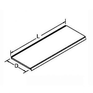 Tablette pour gondole Blanc RAL9001