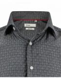 Chemise grise motifs