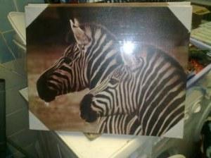 Tableaux deco zebres