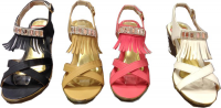 Sandale Compensé frange
