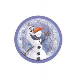 Horloge ronde en plastique - olaf - reine des neiges
