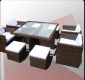 LOT de salon design rotin synthétique