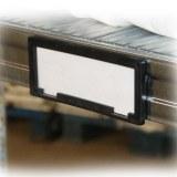 Porte etiquette de rayonnage rack galvanisé
