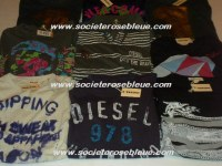 LOT DE TEE SHIRT GUESS DIESEL CK ..