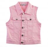 Veste fille en jeans rose