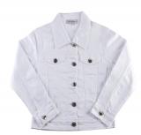 Blouson jeans fille blanc