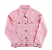 Blouson jeans fille rose
