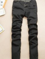Jean taille basse coupe droite