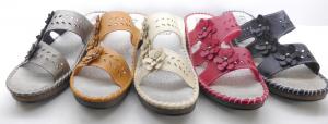 Sandale à fleure cuir