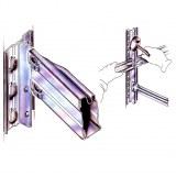 Lisse de rayonnage léger RACK galvanisé