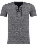 T shirt lacet gris