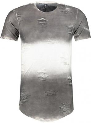 T shirt troue gris