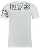 T shirt 3 tête de mort blanc