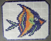 CARRELAGE PISCINE MOTIF POISSON