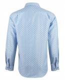 Chemise bleu à motif