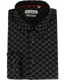 Chemise noir motif imprimé
