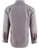 Chemise motif rouge col français