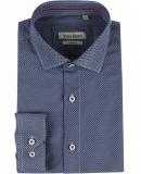 Chemise bleu motif imprimé