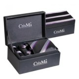 SET HOMME CRAVATE NOIR/LILAS