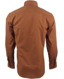Chemise unie marron bronzé