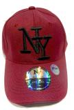 Casquette NY unie bordeau