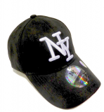 Casquette velours NY noir