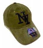 Casquette NY velours vert
