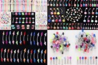 LOT 100 PIERCINGS MIXES DIFFERENTS