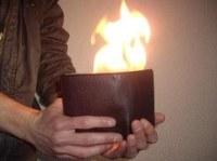 Portefeuille magique flamme
