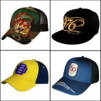 Fabrication de casquettes personnalisées.