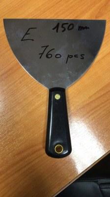 Lot de 3 couteaux à enduire en inox professionnel
