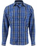 Chemise à carreau bleu slim