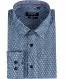 Chemise à motif bleu