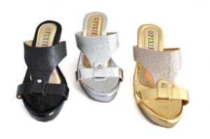 Sandale compensé fantaisie
