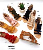 Sandale à frange grande taille
