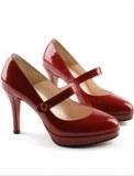 Escarpins à talons brides Rouge