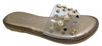 Sandale transparent perle