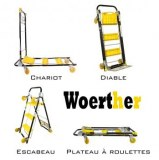Chariot de manutention Woerther multifonctions