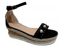 Sandale compensé perle