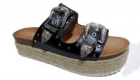 Sandale semelle compenser en paille tendance