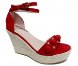 Sandale talon compensé tendance