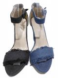 Sandale à talon jean