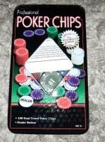 Boites 100 Jetons numérotés poker pro Texas holdem