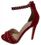Sandale perle à talon