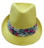 Chapeau bande fleurie